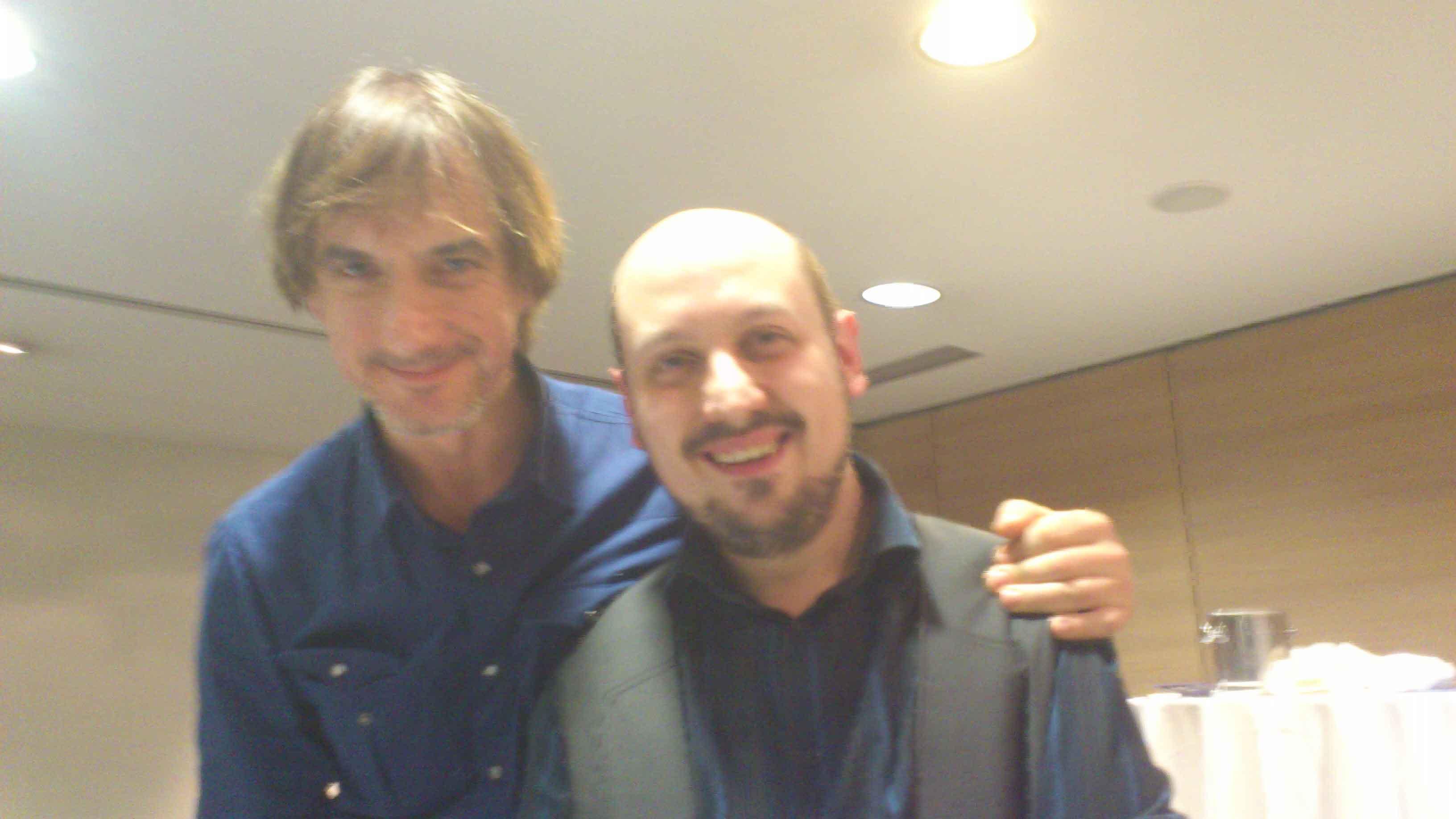 con Woddy Aragon