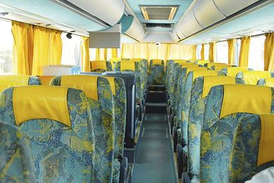 Inside a bus