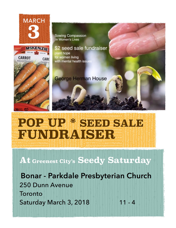 GHH Pop Up table @Greenest City Parkdale hosts Seedy Saturday on March 3 2018