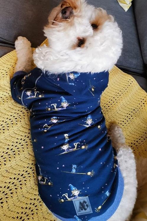 New Ready to Wear Halloween Hoodie Blue Trim