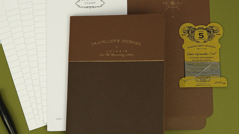 Traveller's Journal (Bind Your Own Notebook Kit) - Brown