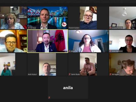Ambasadori I Shqipërisë fton bizneset në Kalgari në një takim miqësor virtual