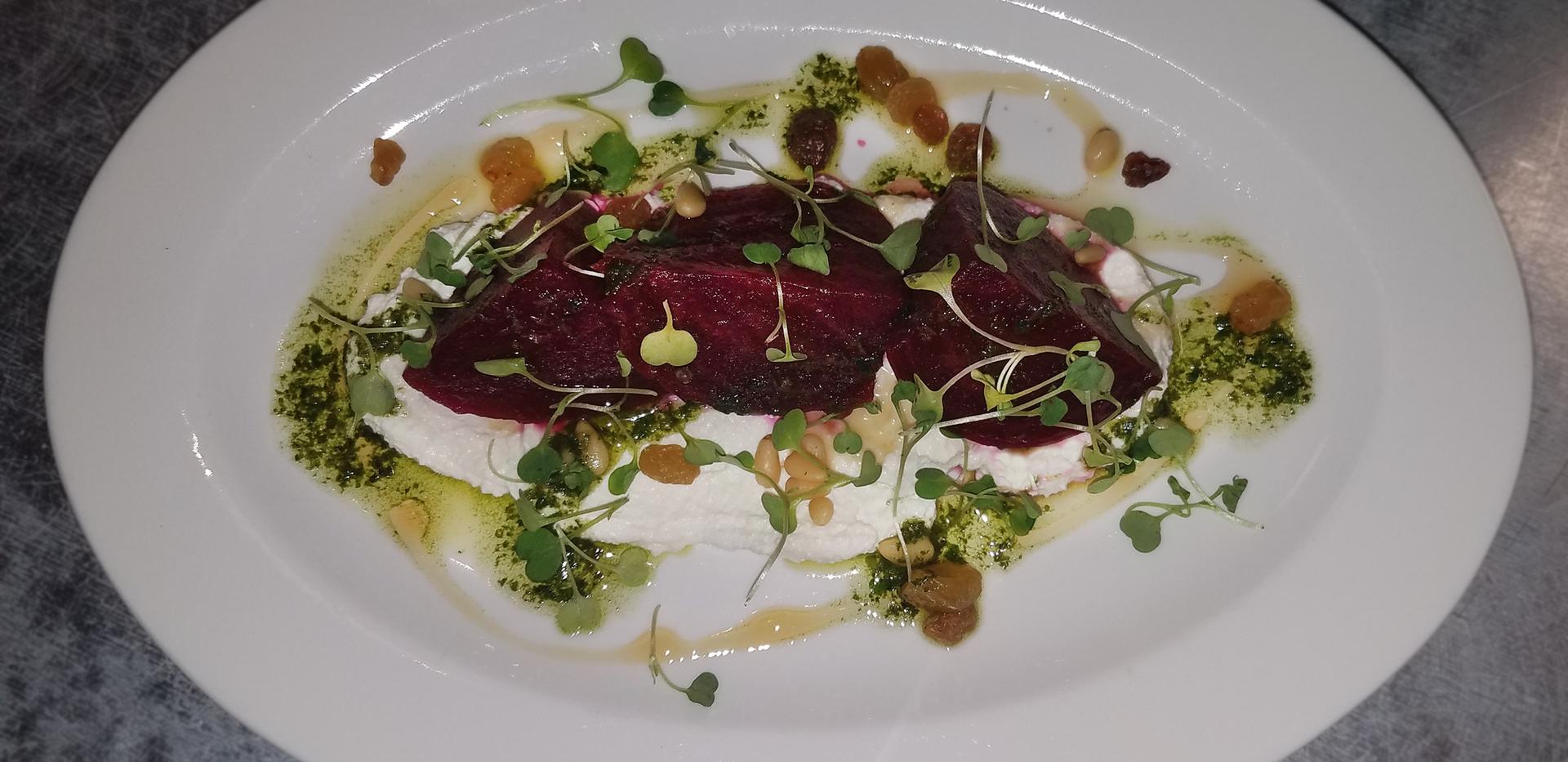 Salt Roasted Beets Salad