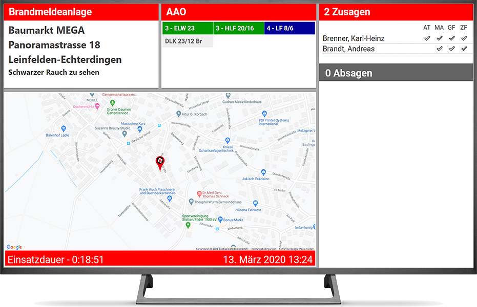 fireplan.display Alarmmodus