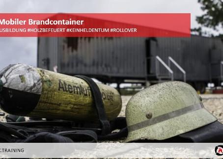 HOLZBEFEUERTE ATEMSCHUTZ-Ausbildung - firebox - Mobiler Brandcontainer