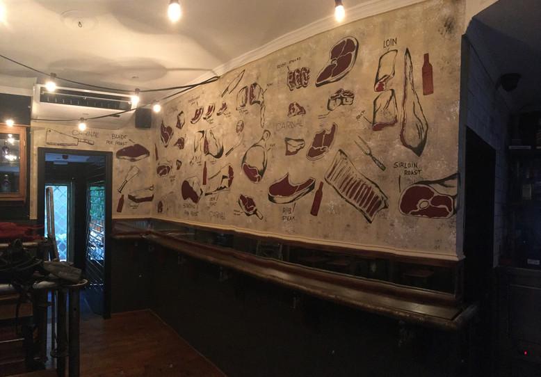 Mural in Carnal Cocktail Bar