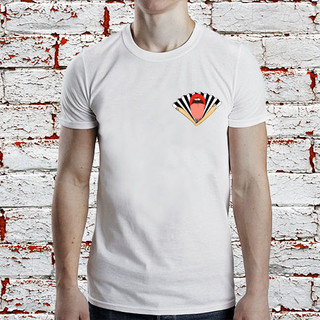 Fan on a t-shirt