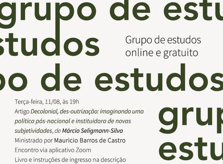 Grupo de estudos #19: Márcio Seligmann com Maurício Barros de Castro