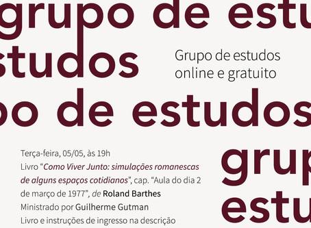 Grupo de Estudos #5: Roland Barthes com Guilherme Gutman