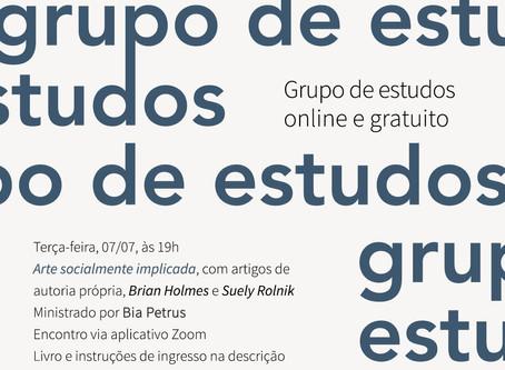 Grupo de Estudos #14: Arte Socialmente Implicada, com Bia Petrus