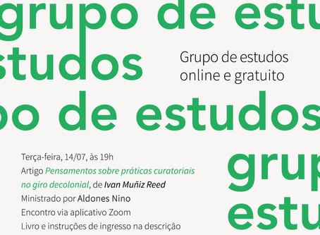Grupo de Estudos #15: Ivan Muñiz Reed, com Aldones Nino