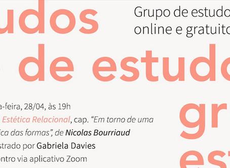 Grupo de Estudos #4: Nicolas Bourriaud com Gabriela Davies