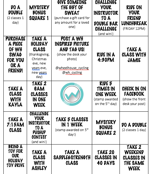 HOLIDAY HUSTLE BINGO!