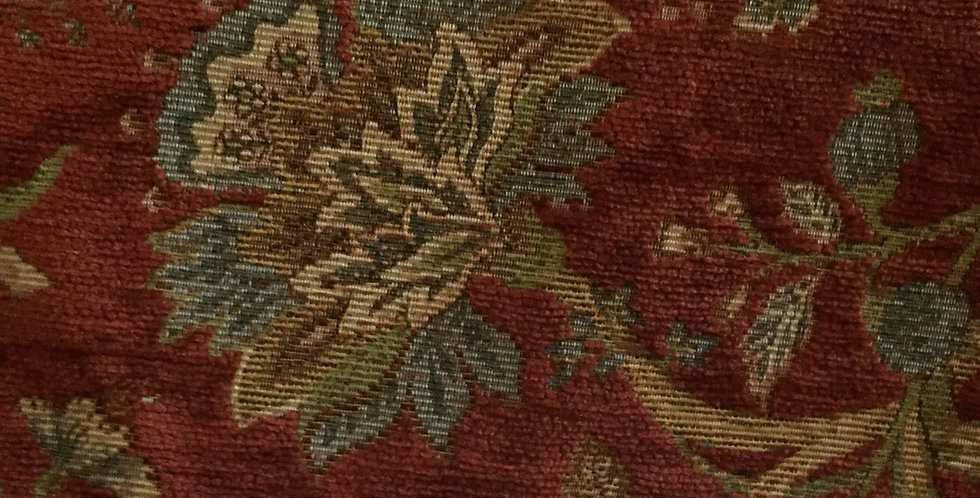 Red Chenille Floral - R/R