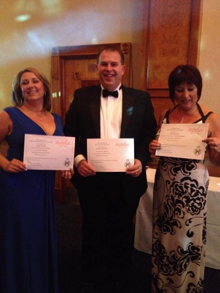 Noda Awards with certificates