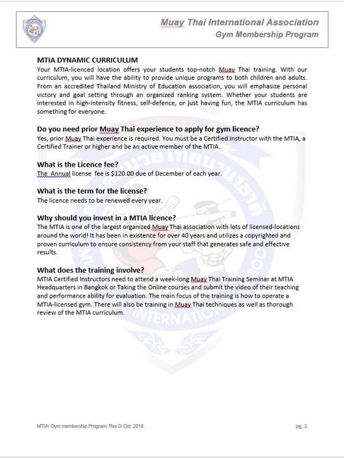 Page 2 - M.T.I.A Gym Membership Program.
