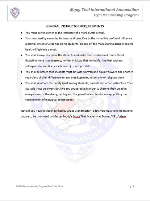 Page 5 - M.T.I.A Gym Membership Program.