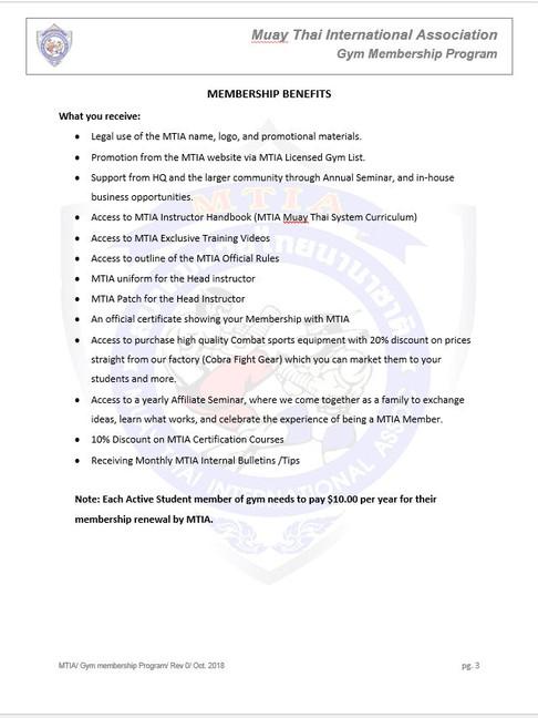 Page 3 - M.T.I.A Gym Membership Program.