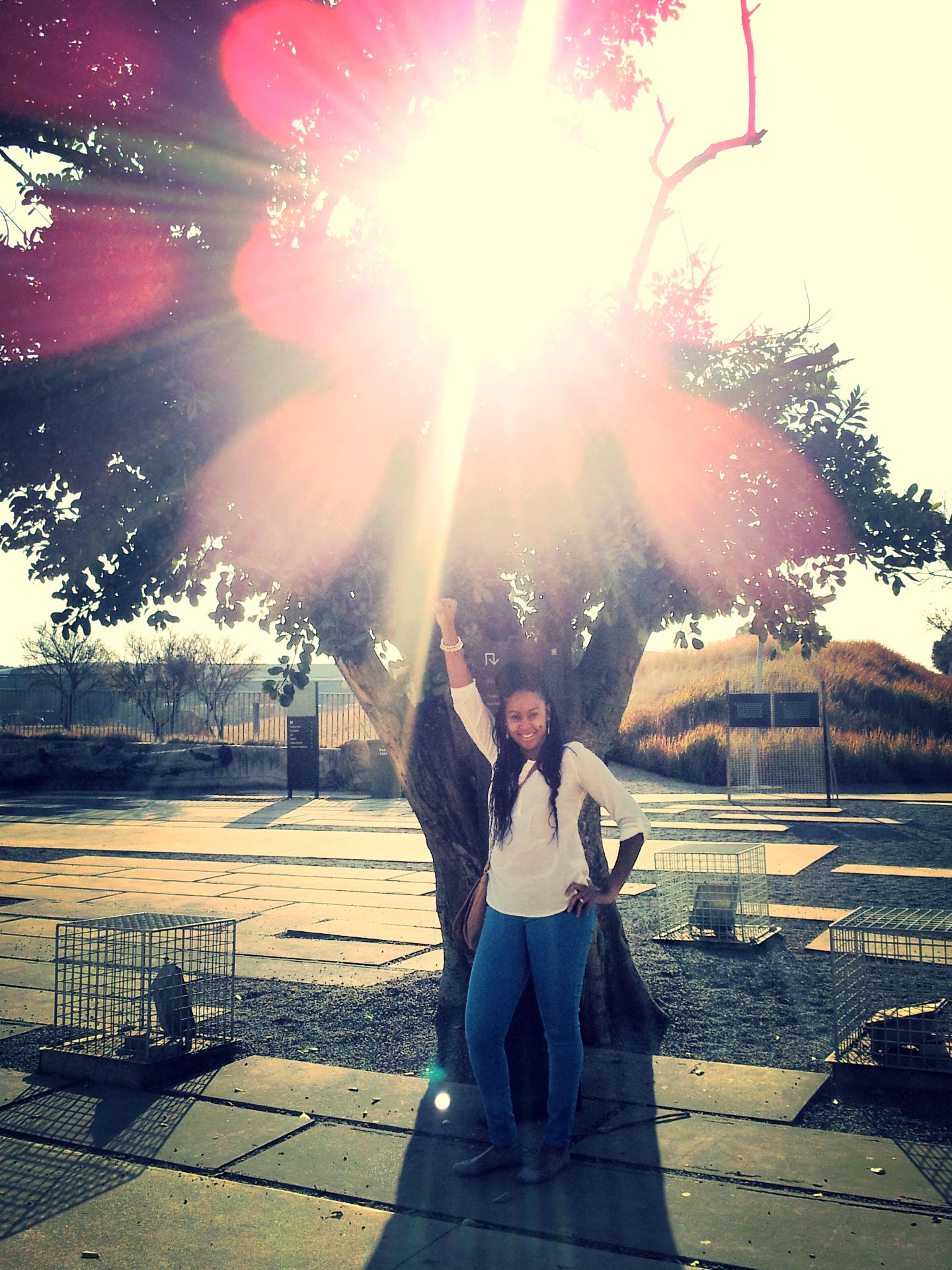 Outside Apartheid Museum Raina.jpg