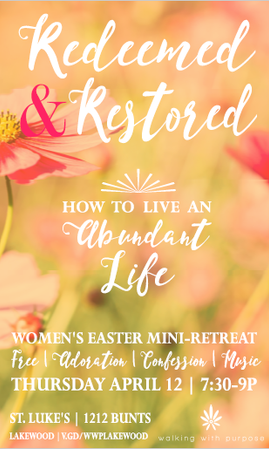 Easter Retreat Poster