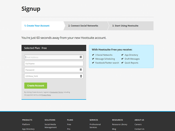 HootSuite Signup