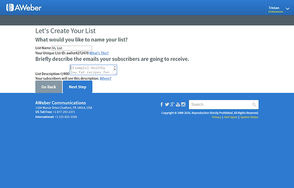 Email List Creation
