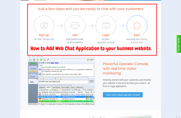 Install Live Chat Service