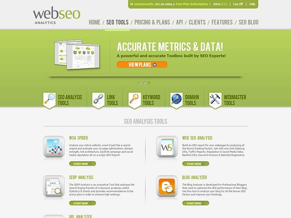 Web SEO Analytics Dashboard