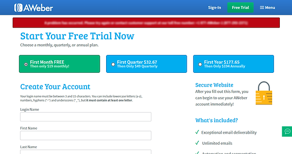 Email Free Trial
