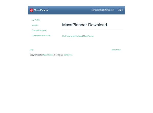 Mass Planner Dashboard