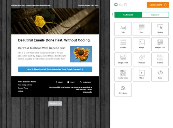 Mailerlite Features