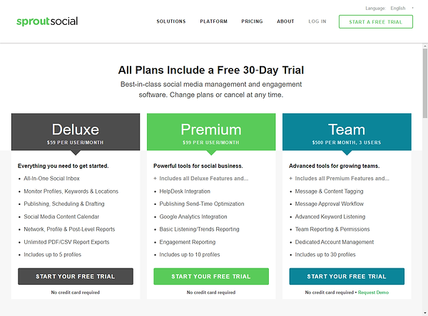 Sprout Social Pricing