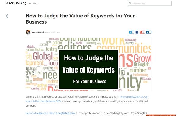 Value of Keywords