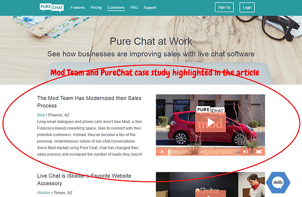 PureChat Case Study