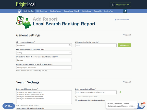 BrightLocal Features