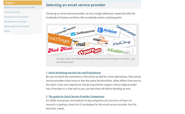 Selecting Email Provider