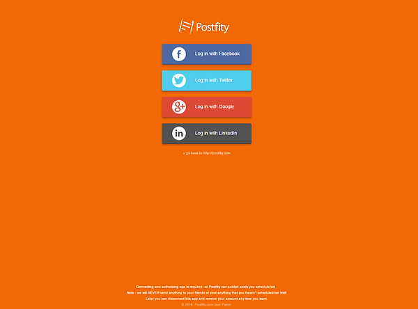Postfity Signup
