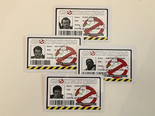 Ghostbusters 1984 ID Card (Set of 4)