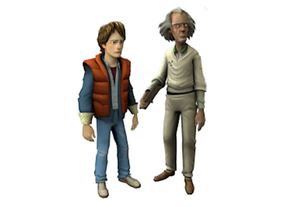 1:8 Scale Doc Brown and Marty McFly Figurines