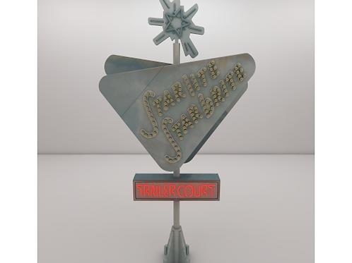1984 The Last Starfighter - Trailer Park Sign