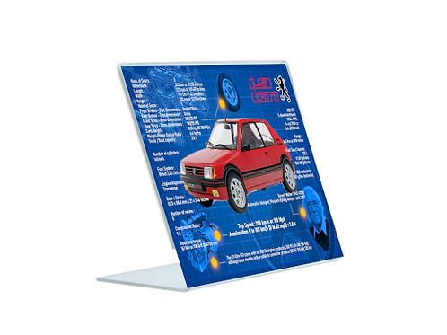Peugeot 1.9 205 GTi - A5 Acrylic Blueprint