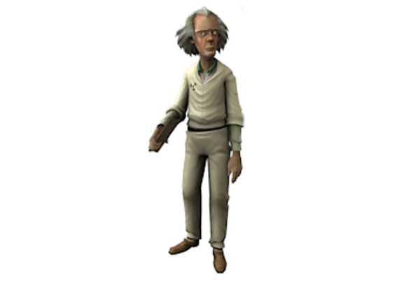 1:8 Scale Doc Brown Figurine