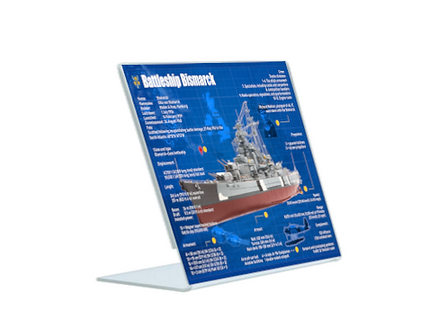 Battleship Bismarck - A5 Acrylic Blueprint
