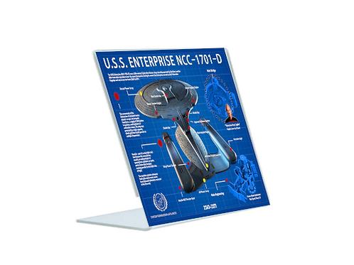 Enterprise NCC 1701-D - A5 Acrylic Blueprint