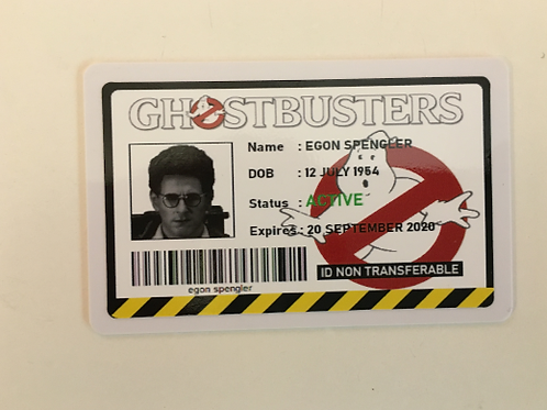 Ghostbusters 1984 ID Card (4 Available)