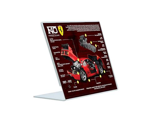 Ferrari F40 Competizione - A5 Acrylic Blueprint