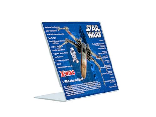 Star Wars X-Wing - A5 Acrylic Blueprint
