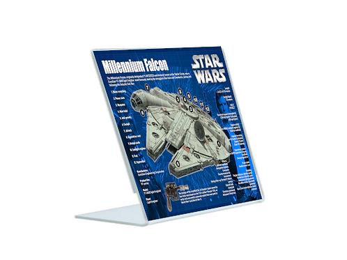 Millennium Falcon - A5 Acrylic Blueprint