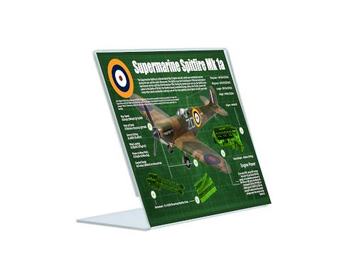 Spitfire Mk 1a - A5 Acrylic Blueprint
