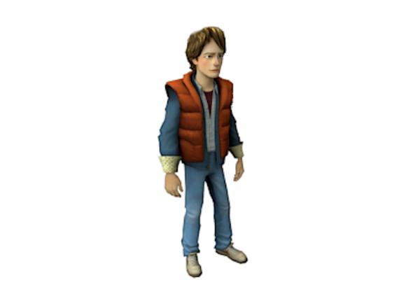 1:8 Scale Marty McFly Figurine